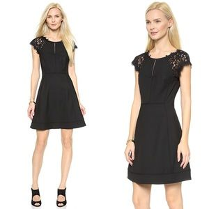 DVF Maddie Black Lace Mini Dress 6